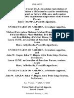 Jessie Thomas v. United States of America, and Michael Enterprises Division Michael Enterprises Division, D/B/A Salt House Mary Holiday Tom Holiday Mary and Tom Holiday, D/B/A Salt House, Laura Hunt, as Guardian of Jonathan Turner, a Minor Laura Hunt, Individually v. United States of America, and John W. Hagen John W. Hagen, D/B/A Twin Ridge Marina, Laura Hunt, as Guardian of Jonathan Turner, a Minor Laura Hunt, Individually v. United States of America, and John W. Hagen John W. Hagen, D/B/A Twin Ridge Marina, 959 F.2d 232, 4th Cir. (1992)