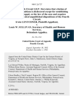 Irwin Lentchner v. Louis W. Sullivan, Secretary of Health and Human Services, 980 F.2d 727, 4th Cir. (1992)
