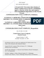 Consolidation Coal Company v. National Labor Relations Board, District 31, United Mine Workers of America, Intervenor. National Labor Relations Board, District 31, United Mine Workers of America, Intervenor v. Consolidation Coal Company, 979 F.2d 847, 4th Cir. (1992)