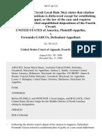 United States v. Fernando Garcia, 103 F.3d 121, 4th Cir. (1996)