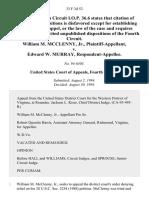 William M. McClenny Jr. v. Edward W. Murray, 33 F.3d 52, 4th Cir. (1994)
