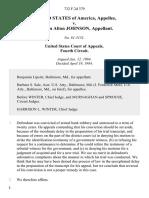 United States v. William Alton Johnson, 732 F.2d 379, 4th Cir. (1984)