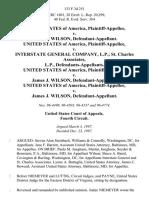 United States v. James J. Wilson, United States of America v. Interstate General Company, L.P. St. Charles Associates, L.P., United States of America v. James J. Wilson, United States of America v. James J. Wilson, 133 F.3d 251, 4th Cir. (1997)