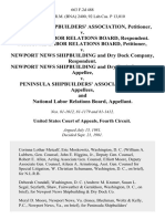 Peninsula Shipbuilders' Association v. National Labor Relations Board, National Labor Relations Board v. Newport News Shipbuilding and Dry Dock Company, Newport News Shipbuilding and Dry Dock Company v. Peninsula Shipbuilders' Association, and National Labor Relations Board, 663 F.2d 488, 4th Cir. (1981)