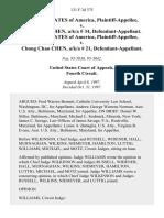 United States v. Chang Han Chen, A/K/A 34, United States of America v. Chong Chao Chen, A/K/A 21, 131 F.3d 375, 4th Cir. (1997)