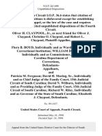 Oliver H. Claypool, Jr., as Next Friend for Oliver J. Claypool, Christine O. Claypool, and Robert L. Claypool v. Flora B. Boyd, Individually and as Warden, Stevenson Correctional Institution William D. Leeke, Individually and as Commissioner, South Carolina Department of Corrections, Defendants- and Patricia M. Ferguson David H. Maring, Sr., Individually and as Chief Judge of the Family Court, 15th Judicial Circuit of South Carolina David N. Wilburn, Individually and as Presiding Judge of the Family Court, 15th Judicial Circuit of South Carolina Richard W. Riley, Individually and as Governor of the State of South Carolina Elizabeth J. Claypool, 914 F.2d 1490, 4th Cir. (1990)