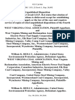 West Virginia Coal Association, and West Virginia Mining and Reclamation Association, American Electric Power Fuel Supply Corporation, Cannelton Industries, Inc., Elk Run Coal Company, Incorporated, Omar Mining Company, Valley Camp Coal Company, United States Steel Mining Company, Inc., Westmoreland Coal Company, Incorporated, Wynchester Mining Company, Incorporated v. William K. Reilly, Administrator, United States Environmental Protection Agency, West Virginia Coal Association, West Virginia Mining and Reclamation Association, American Electric Power Fuel Supply Corporation, Cannelton Industries, Incorporated, Elk Run Coal Company, Incorporated, Omar Mining Company, Valley Camp Coal Company, United States Steel Mining Company, Incorporated, Westmoreland Coal Company, Incorporated, Wynchester Mining Company, Incorporated v. William K. Reilly, Administrator, United States Environmental Protection Agency, 932 F.2d 964, 4th Cir. (1991)