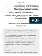 Robert S. Hamady v. Trammell Crow Asset Company, A/K/A Trammell Crow Company, 28 F.3d 1209, 4th Cir. (1994)