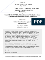 Owen Electric Steel Company of South Carolina, Incorporated v. Carol M. Browner, Administrator of the United States Environmental Protection Agency, 37 F.3d 146, 4th Cir. (1994)