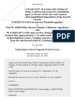 United States v. Paul W. Urbanek Karen Urbanek, Claimants-Appellants, and 90 Acres of Land, More or Less, Situated on State Route Number 646, Approximately 1 1/2 Miles North of McGaheysville in Rockingham County, Virginia, and Any and All Proceeds From the Sale Thereof (Paul W. Urbanek), 39 F.3d 1179, 4th Cir. (1994)