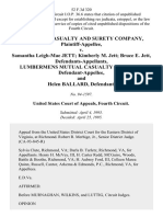 The Aetna Casualty and Surety Company v. Samantha Leigh-Mae Jett Kimberly M. Jett Bruce E. Jett, Lumbermens Mutual Casualty Company, and Helen Ballard, 52 F.3d 320, 4th Cir. (1995)