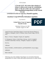 United States v. Jonathan Craig Songer, 972 F.2d 344, 4th Cir. (1992)