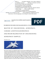 Master of Engineering, Aerospace, Canada