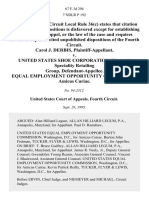 Carol J. Derbis v. United States Shoe Corporation, Women's Speciality Retailing Group, Equal Employment Opportunity Commission, Amicus Curiae, 67 F.3d 294, 4th Cir. (1995)