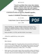 United States v. Anneka S. Barker, 86 F.3d 1152, 4th Cir. (1996)