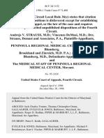 Andrejs v. Strauss, M.D. Vincenzo Demasi, M.D. Drs. Strauss, Demasi and Associates, P.A. v. Peninsula Regional Medical Center Drake, Blumberg, Brookland and Zinreich, M.D. P.A. Albert L. Blumberg, M.D., and the Medical Staff of Peninsula Regional Medical Center, Movant, 86 F.3d 1152, 4th Cir. (1996)