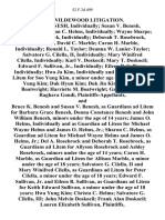 In Re Wildewood Litigation. Bruce K. Benesh, Individually Susan v. Benesh, Individually Sharon C. Helms, Individually Wayne Sharpe Del A. Rosebrock, Individually Deborah T. Rosebrock, Individually David C. Marble Caron H. Marble, Individually Ronald L. Taylor Deanna W. Lanier-Taylor Salvatore G. Cilella, Ii, Individually Mary Winifred Cilella, Individually Karl v. Doskocil Mary T. Doskocil Edward F. Sullivan, Jr., Individually Eileen B. Sullivan, Individually Hwa Ja Kim, Individually and as Guardian Ad Litem for Soo Yung Kim, a Minor Under Age of 18 Years Duk Yung Kim Duk Hyun Kim Duk Jin Kim Linton S. Boatwright Harriette M. Boatwright Gandhi Gondi Raghava Gondi, and Bruce K. Benesh and Susan v. Benesh, as Guardians Ad Litem for Barbara Grace Benesh, Donna Constance Benesh and John William Benesh, Minors Under the Age of 14 Years James O. Helms, Individually and as Guardian Ad Litem for Michael Wayne Helms and James O. Helms, Jr. Sharon C. Helms, as Guardian Ad Litem for Michael Wayne