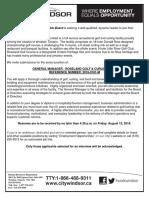 Roseland GM Job Posting