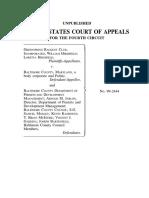 Greenspring Racquet v. Baltimore County MD, 4th Cir. (2000)