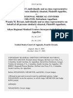 Wanda M. Bryant, Individually and as Class Representative on Behalf of All Persons Similarly Situated v. Aiken Regional Medical Centers Incorporated, Wanda M. Bryant, Individually and as Class Representative on Behalf of All Persons Similarly Situated v. Aiken Regional Medical Centers Incorporated, 333 F.3d 536, 4th Cir. (2003)