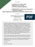 71 Fair empl.prac.cas. (Bna) 1490, 69 Empl. Prac. Dec. P 44,281 Frances D. Burns v. Aaf-Mcquay, Incorporated, a Minnesota Corporation, Equal Employment Opportunity Commission, Amicus Curiae, 96 F.3d 728, 4th Cir. (1996)