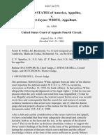 United States v. Robert Joyner White, 342 F.2d 379, 4th Cir. (1965)