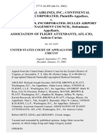 Continental Airlines, Inc. Continental Express, Incorporated v. United Airlines, Incorporated Dulles Airport Airline Management Council, Association of Flight Attendants, Afl-Cio, Amicus Curiae, 277 F.3d 499, 4th Cir. (2002)