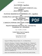 Eldred Moore v. Carolina Power and Light Company, Eldred Moore v. Floyd B. McKissick Enterprises, Inc., and Carolina Power and Light Company and Soul City Foundation, Inc., Eldred Moore v. Carolina Power and Light Company, and Floyd B. McKissick Enterprises, Inc., and Soul City Foundation, Inc., 537 F.2d 1252, 4th Cir. (1976)