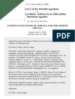 Philip Saccacio v. Bureau of Alcohol, Tobacco & Firearms, 211 F.3d 102, 4th Cir. (2000)
