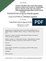 United States v. Leroy Clayton, Jr., 105 F.3d 648, 4th Cir. (1997)