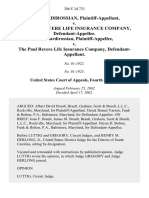 Aris Mardirossian v. The Paul Revere Life Insurance Company, Aris Mardirossian v. The Paul Revere Life Insurance Company, 286 F.3d 733, 4th Cir. (2002)