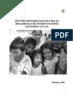 Apuntes Metodológicos Para El Desarrollo de Intervenciones Socioeducativas