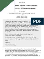 United States v. Enrique Perez-Pena, 453 F.3d 236, 4th Cir. (2006)