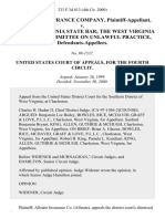 Allstate Insurance Company v. The West Virginia State Bar the West Virginia State Bar Committee on Unlawful Practice, 233 F.3d 813, 4th Cir. (2000)