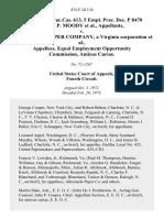 5 Fair empl.prac.cas. 613, 5 Empl. Prac. Dec. P 8470 Joseph P. Moody v. Albemarle Paper Company, a Virginia Corporation, Equal Employment Opportunity Commission, Amicus Curiae, 474 F.2d 134, 4th Cir. (1973)