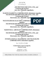 Technograph Printed Circuits, Ltd., and Technograph Printed Electronics, Inc. v. Martin-Marietta Corporation, Technograph Printed Circuits, Ltd., and Technograph Printed Electronics, Inc. v. Westinghouse Electric Corporation, Technograph Printed Circuits, Ltd., and Technograph Printed Electronics, Inc. v. McDonnell Aircraft Corporation, Technograph Printed Circuits, Ltd., and Technograph Printed Electronics, Inc. v. International Telephone and Telegraph Corporation, 474 F.2d 798, 4th Cir. (1973)