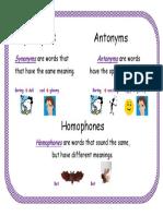synonymantonymandhomophoneposter