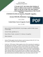 United States v. Jerome Fields, 833 F.2d 1006, 4th Cir. (1987)