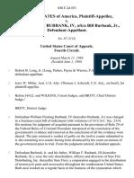 United States v. William Fleming Burbank, Iv, A/K/A Bill Burbank, Jr., 848 F.2d 453, 4th Cir. (1988)