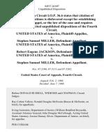 United States v. Stephen Samuel Miller, United States of America v. Robert Eugene Jackson, United States of America v. Stephen Samuel Miller, 849 F.2d 607, 4th Cir. (1988)