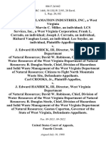 Geo-Tech Reclamation Industries, Inc., a West Virginia Corporation Marvin C. Miller, an Individual Lcs Services, Inc., a West Virginia Corporation Frank L. Corrado, an Individual Joseph J. Corrado, an Individual, Richard Vaughan Lenzi, an Individual Lee Snyder, an Individual v. J. Edward Hamrick, Iii, Director, West Virginia Department of Natural Resources David W. Robinson, Chief, Division of Water Resources of the West Virginia Department of Natural Resources B. Douglas Steele, Chief, Division of Hazardous and Solid Waste Management of the West Virginia Department of Natural Resources Citizens to Fight North Mountain Waste Site, Carl Crooks, Jr. v. J. Edward Hamrick, Iii, Director, West Virginia Department of Natural Resources David W. Robinson, Chief, Division of Water Resources of the West Virginia Department of Natural Resources B. Douglas Steele, Chief, Division of Hazardous and Solid Waste Management of the West Virginia Department of Natural Resources Gaston Caperton, Governor