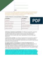 Authentic Assessment 2010