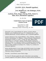 Owen D. Oksanen, M.D. v. Page Memorial Hospital J.R. Holsinger, M.D. Romulo Ancheta, M.D. Fang S. Horng, M.D. James G. Dale, M.D., 912 F.2d 73, 4th Cir. (1990)