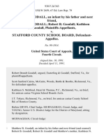Matthew B. Goodall, an Infant by His Father and Next Friend, Robert B. Goodall Robert B. Goodall Kathleen N. Goodall v. Stafford County School Board, 930 F.2d 363, 4th Cir. (1991)