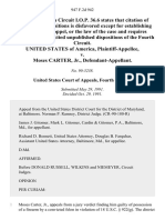 United States v. Moses Carter, Jr., 947 F.2d 942, 4th Cir. (1991)