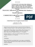 Thad Gray Abrasives, Incorporated Thaddeus J. Gray v. Carborundum Abrasives Company, 958 F.2d 369, 4th Cir. (1992)