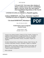 United States v. Anthony Robinson, A/K/A Tony, United States of America v. Cleveland Robinson, 972 F.2d 343, 4th Cir. (1992)