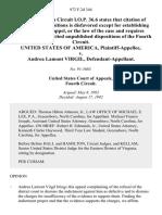 United States v. Andrea Lamont Virgil, 972 F.2d 344, 4th Cir. (1992)