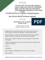 United States v. Don Edward Smith, 981 F.2d 1252, 4th Cir. (1992)