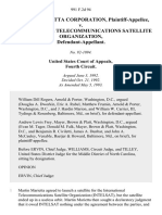 Martin Marietta Corporation v. International Telecommunications Satellite Organization, 991 F.2d 94, 4th Cir. (1993)